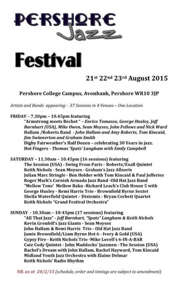 Pershore Jazz Festival 2015